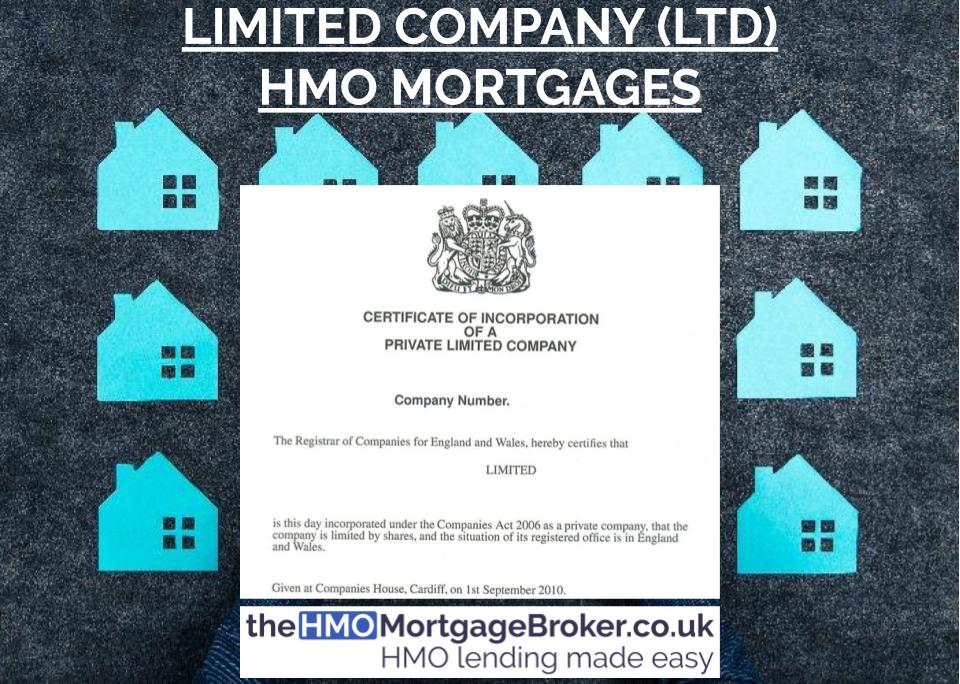 Limited Company (LTD CO) HMO Mortgages